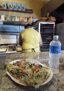 Yummy spinach at Pizza Rustica!