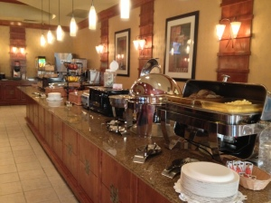 Best Western Sea Way's complimentary breakfast buffet
