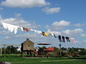 Friday is one of the wash days on the farm