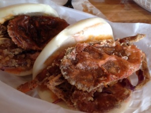 Fat Bao's Crab Daddy - soft shell crab with spicy mayo and Asian slaw