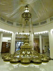 Arkansas State Capitol rotunda chandelier is enormous and takes a half hour just to lower it