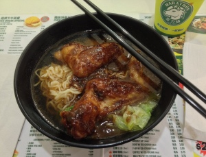 Tasty Ramen Noodles with Satay Chicken Wings soup!