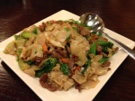 The Gai lan, beef with noodles was good.