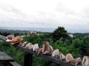 Rubin's favorite spot, overlooking the island