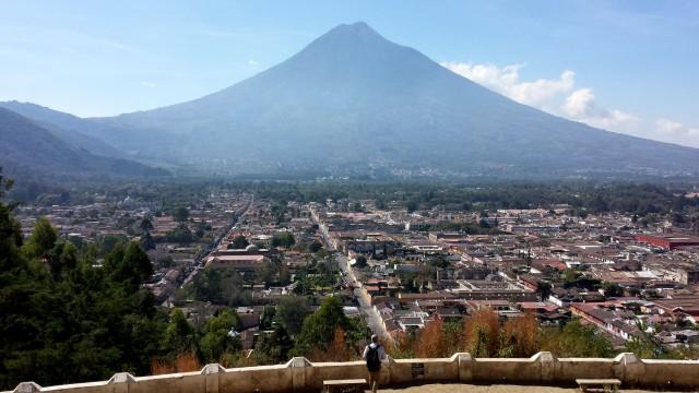 Volcan Agua and La Antigua from Cerro de la Cruz