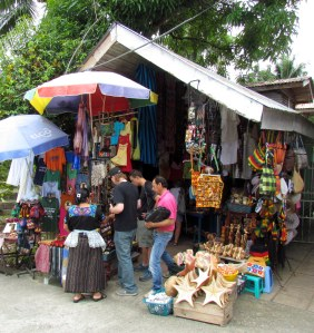 A colorful stall