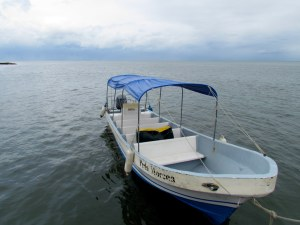 A view of the Gulf of Honduras from Livingston's dock