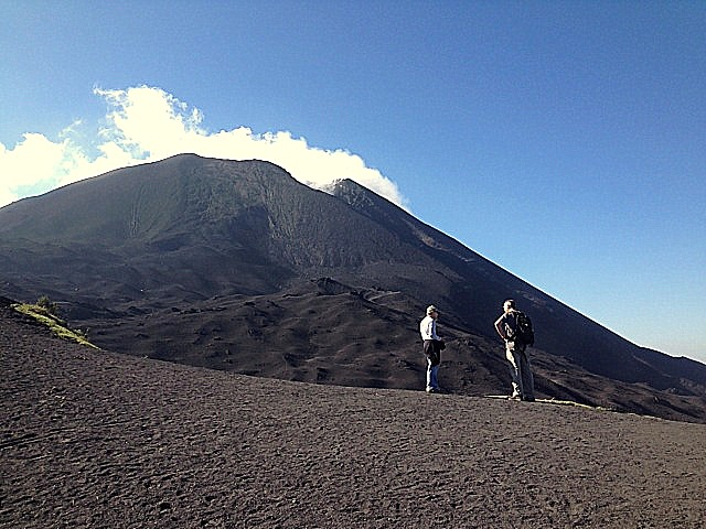 A safe distance from the main cone of Volcan Pacaya.