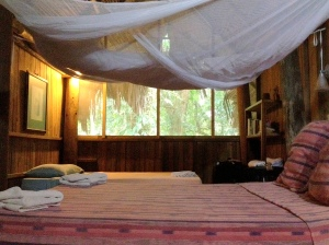 Love the roomy mosquito net!