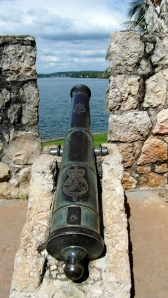 One of the cannons found upriver