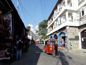 Strolling down a street in Panajachel