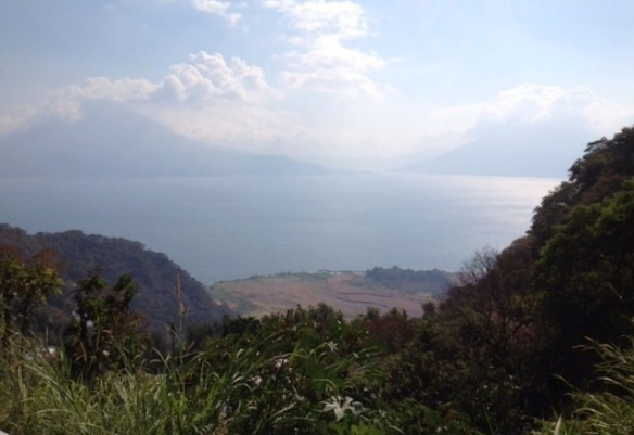 View on the way to Lago de Atitlan