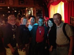 Brain, Sheila, bongo drummer, guitarist, Soo, Lonnie