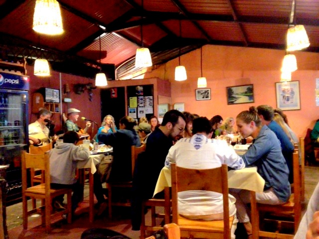Guajimbo's Uruguayan restaurant is packed on a weekday!