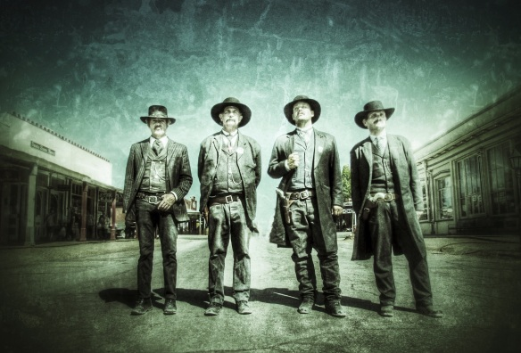 Doc Holliday and the Earp Brothers are ready