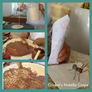 Senor Crepe makes Cricket a complimentary dessert