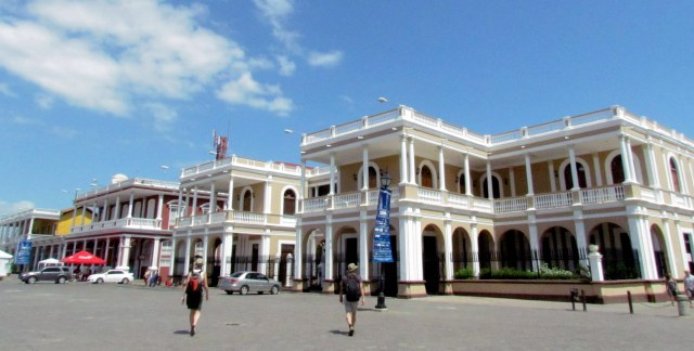 Colonial architecture in the town square