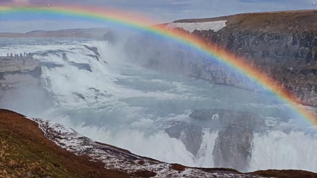 Gullfoss rainbow, Iceland