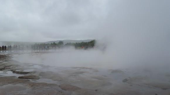 Strokkur Geysir steam