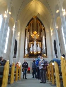 Hallgrimskirkja church interior